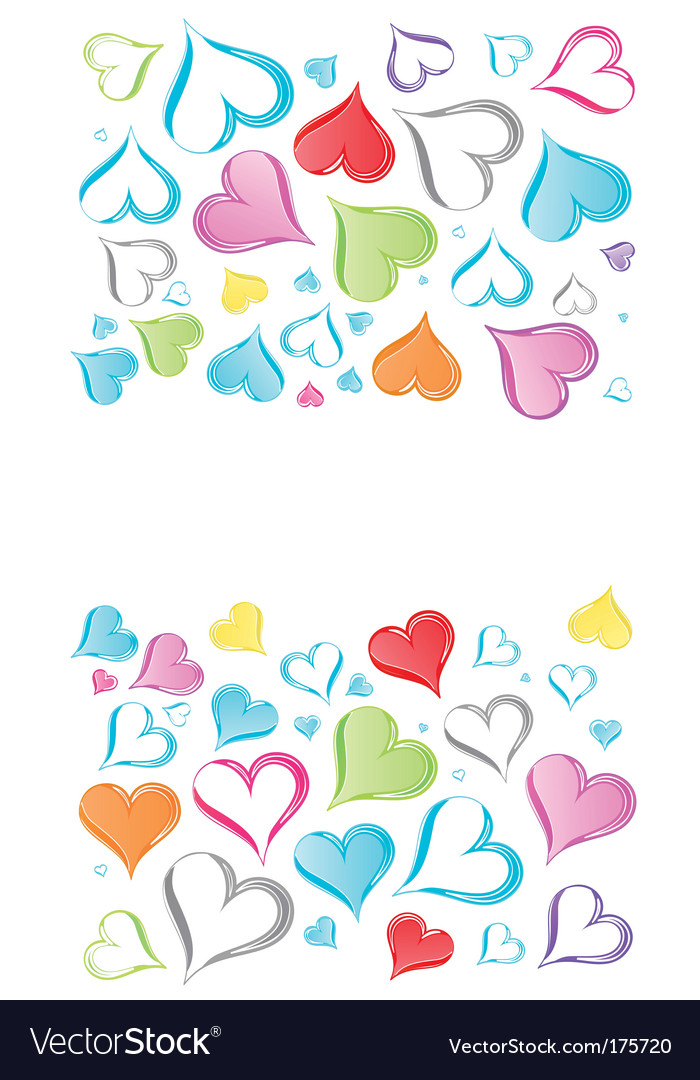 rainbow hearts background royalty free vector image