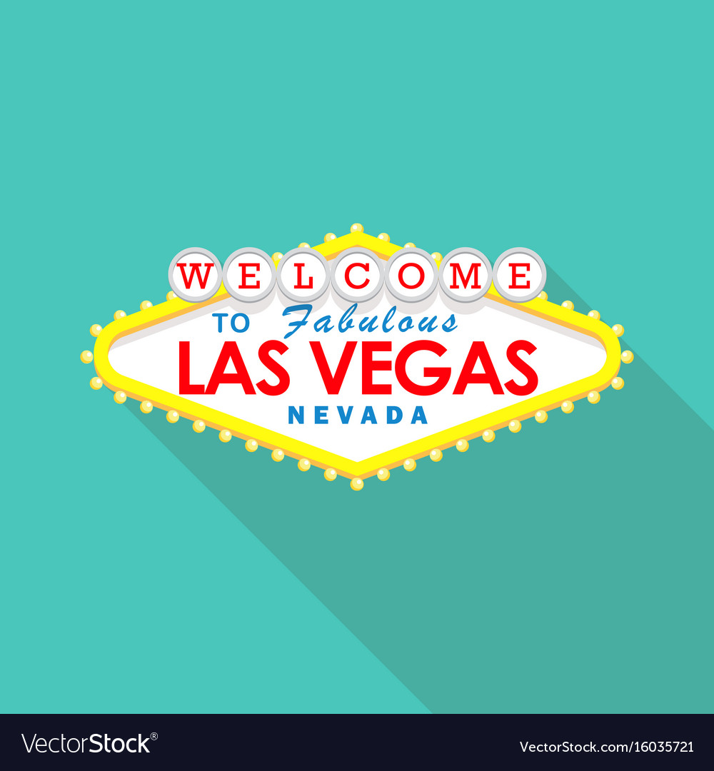 Classic retro welcome to las vegas sign vector image