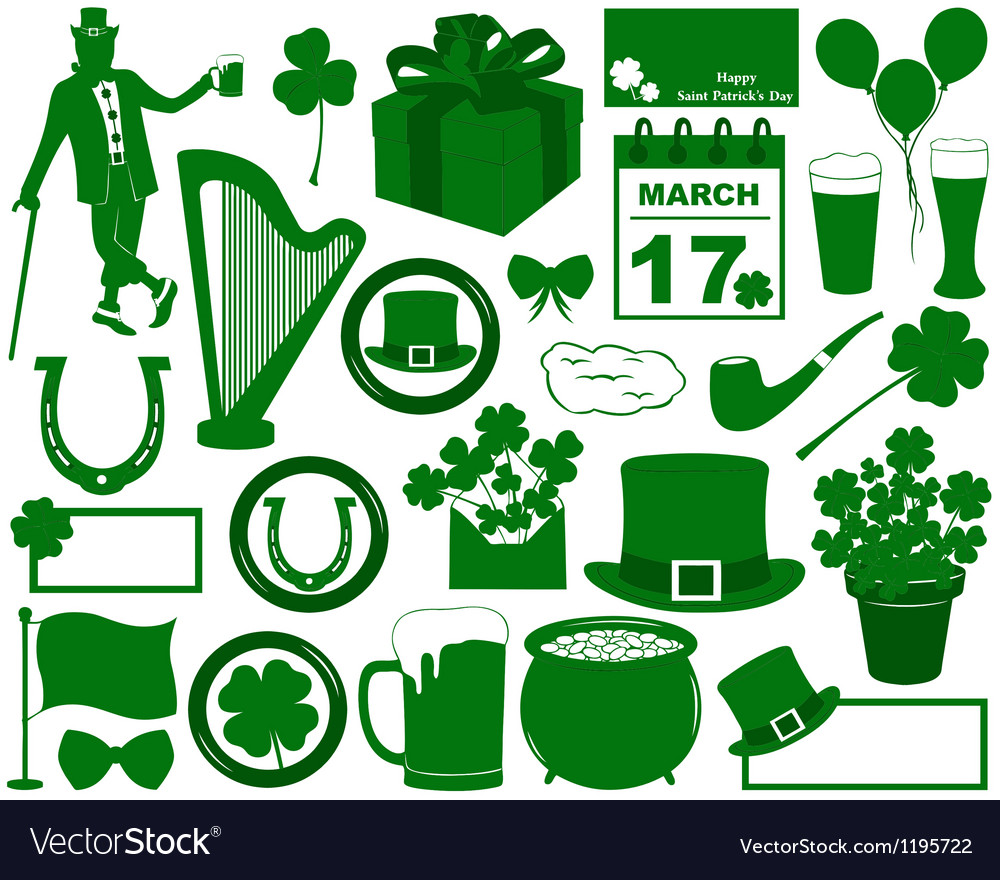 Saint Patrick s Day Elements Vector Image