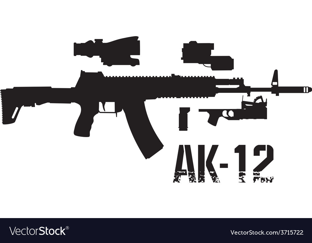 New weapon ak 12 vector image