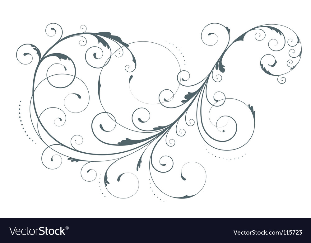 Floral element vector image