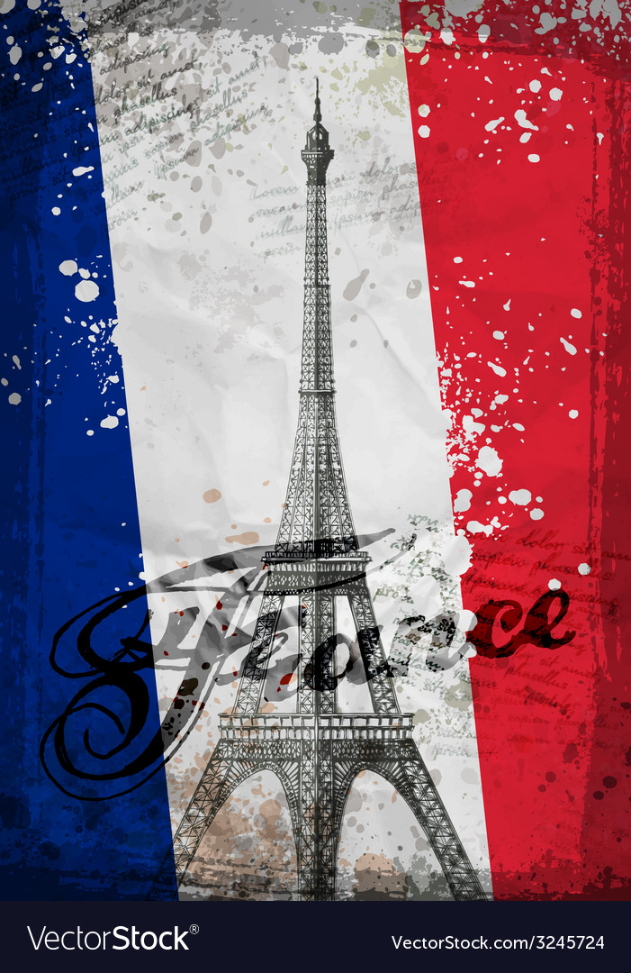 Eiffel Tower Hand drawn vector image