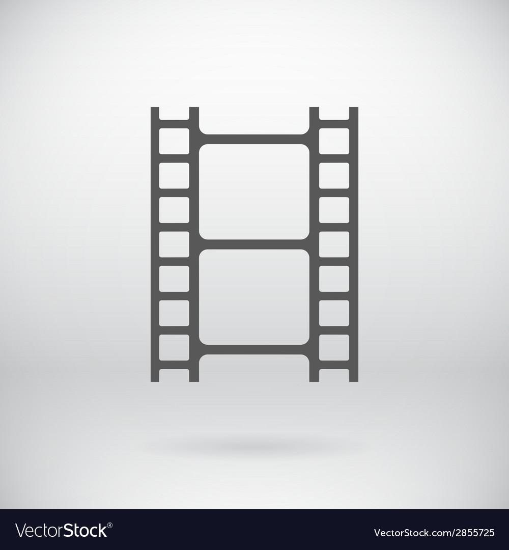 Flat Movie Film Strip Light Icon Symbol Background vector image