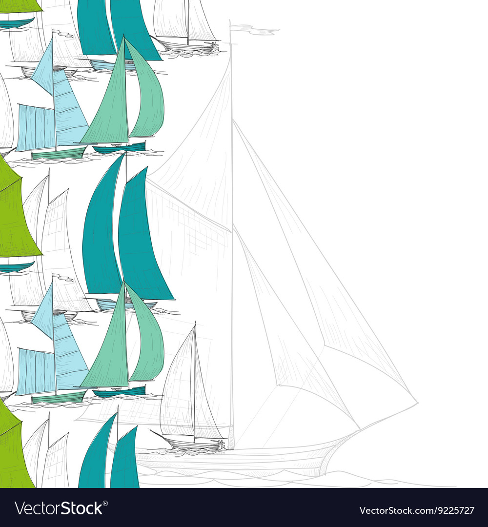 Boats background vector image