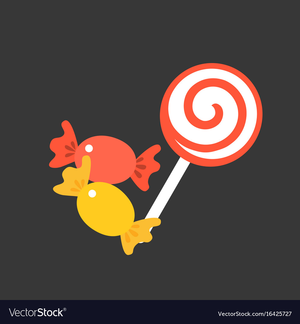 Candy and lollipop vector image