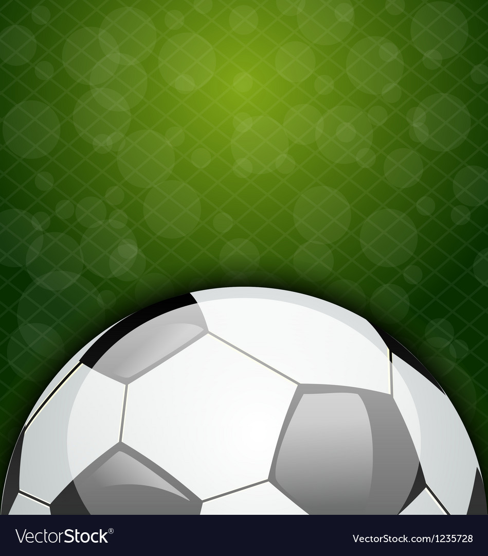 Football card with place for your text vector image