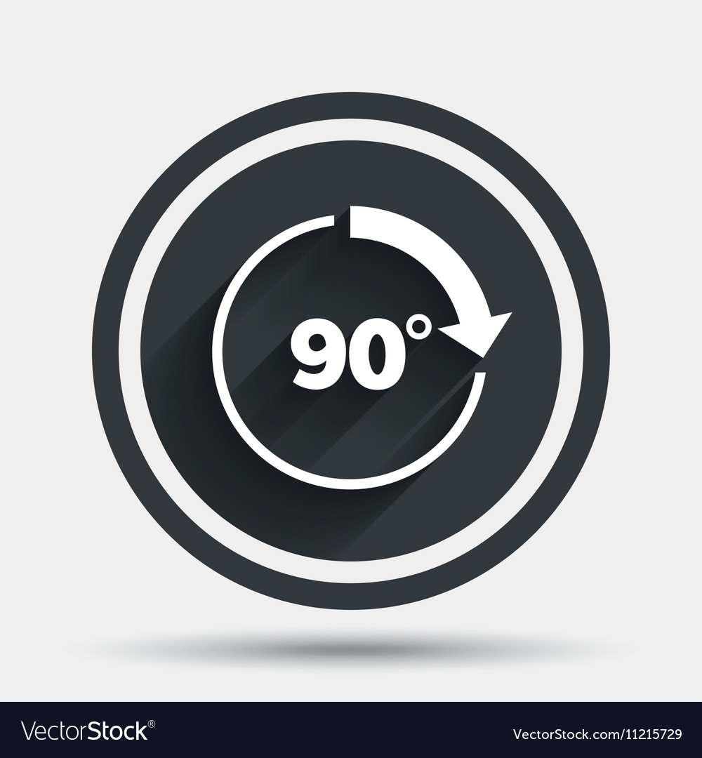 Angle 90 degrees sign icon Geometry math symbol vector image