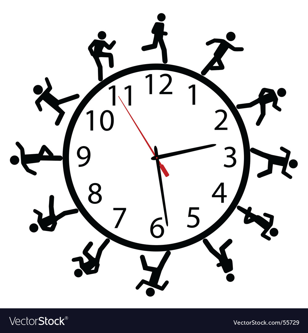 Time illustration vector image