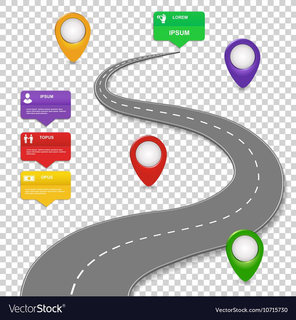 Navigation infographics design Car road vector image