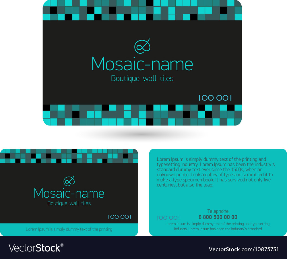 Loyalty Card Design Template Royalty Free Vector Image - Loyalty card template