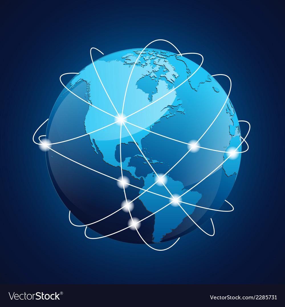 World Globe Navigation vector image