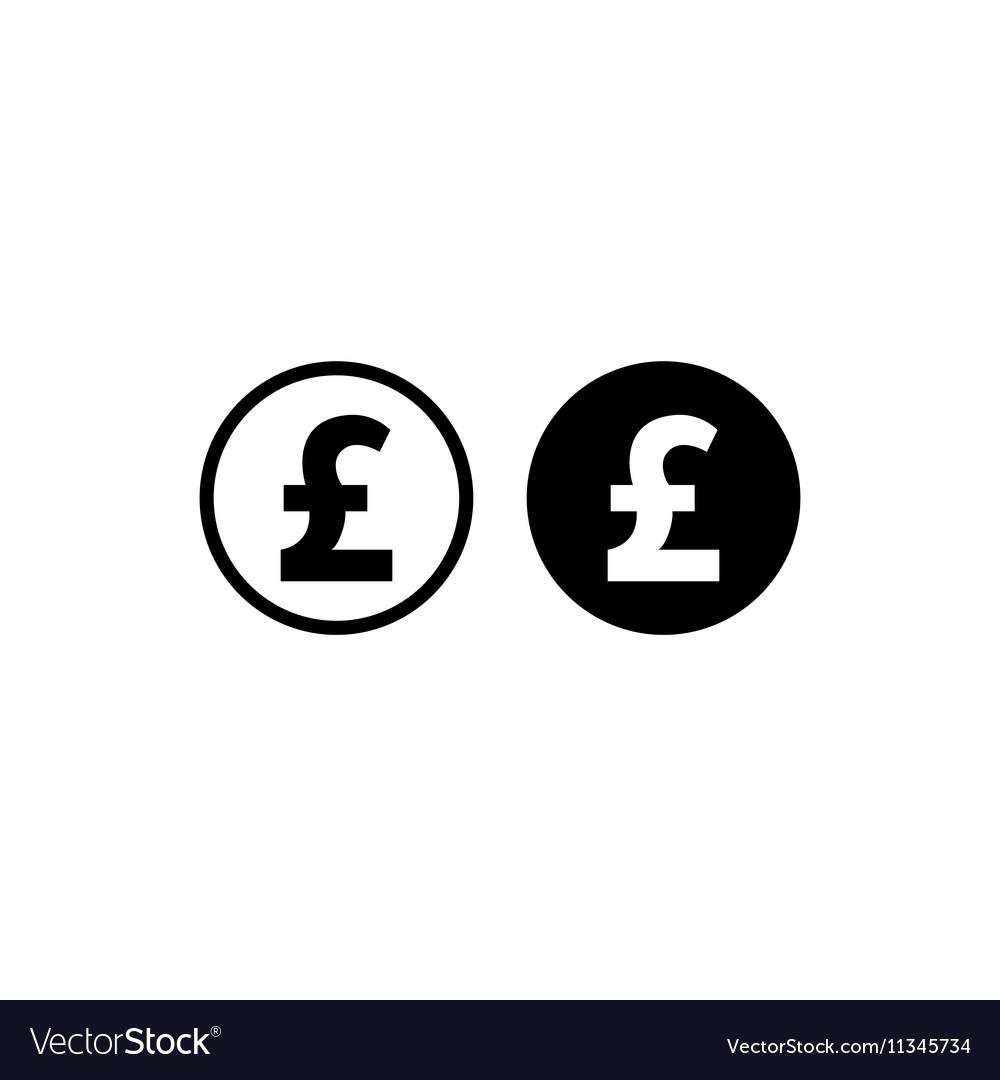 Money pound icon vector image