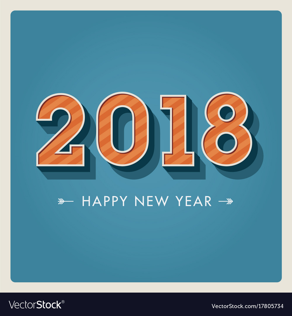 New-year-2018-3d-numbers vector image