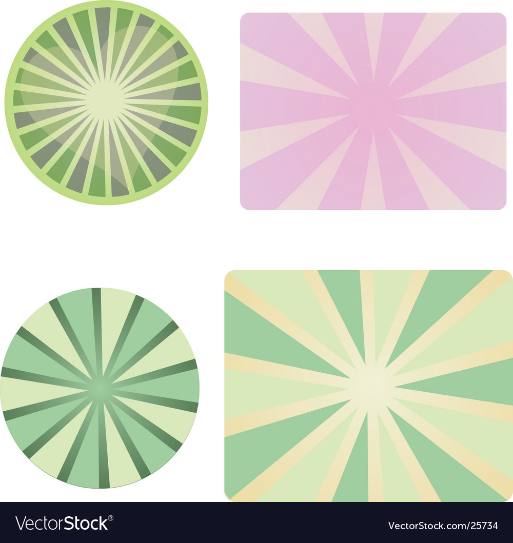 Ray collection vector image