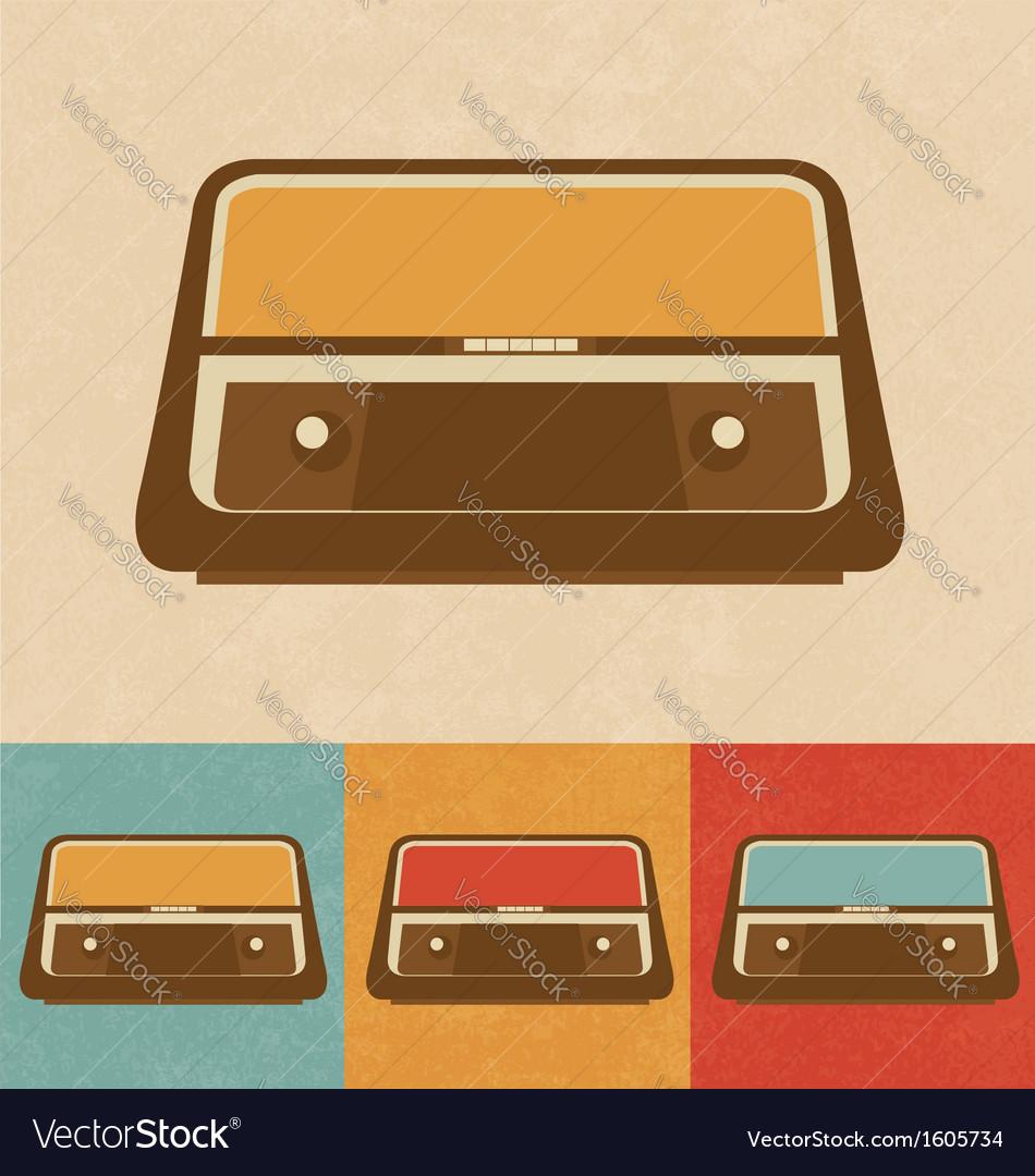 Retro Icons - Old Radio vector image