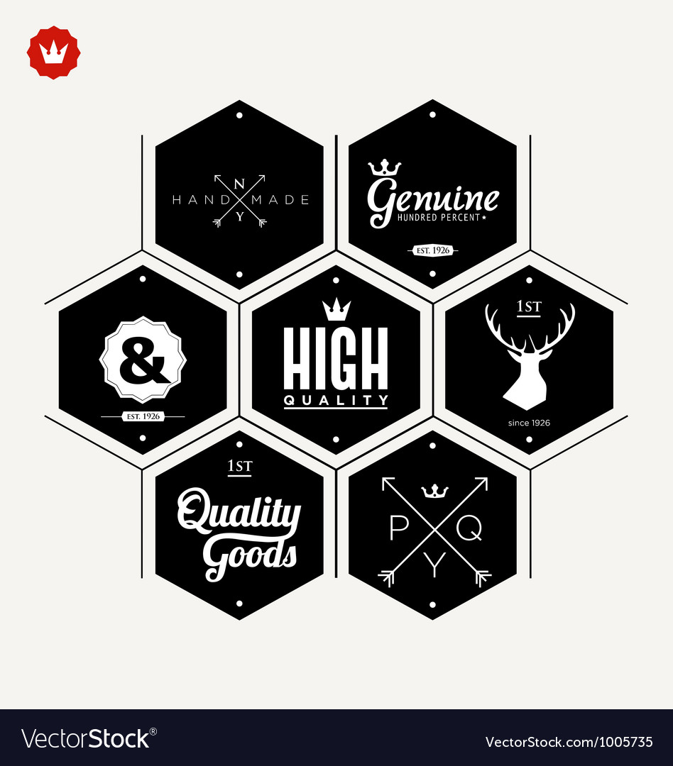 Collection of Premium quality label vector image
