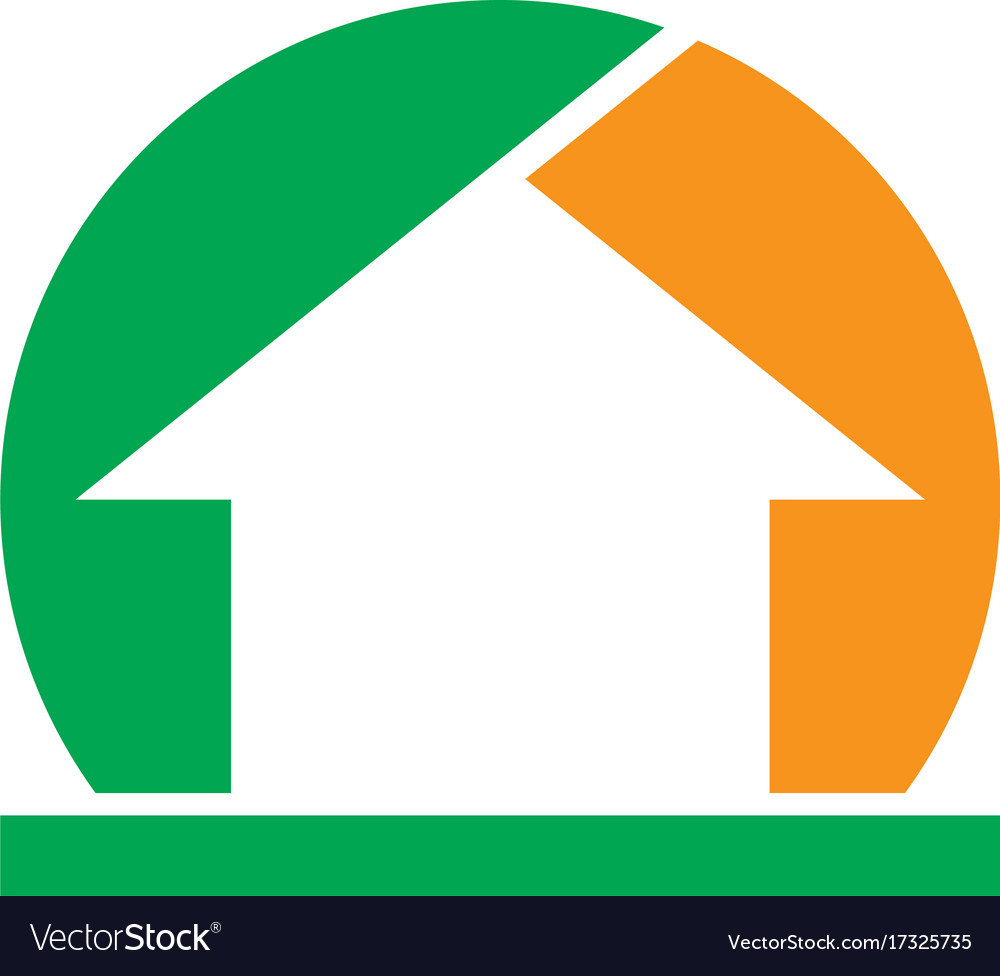 Abstract home sign business logo vector image