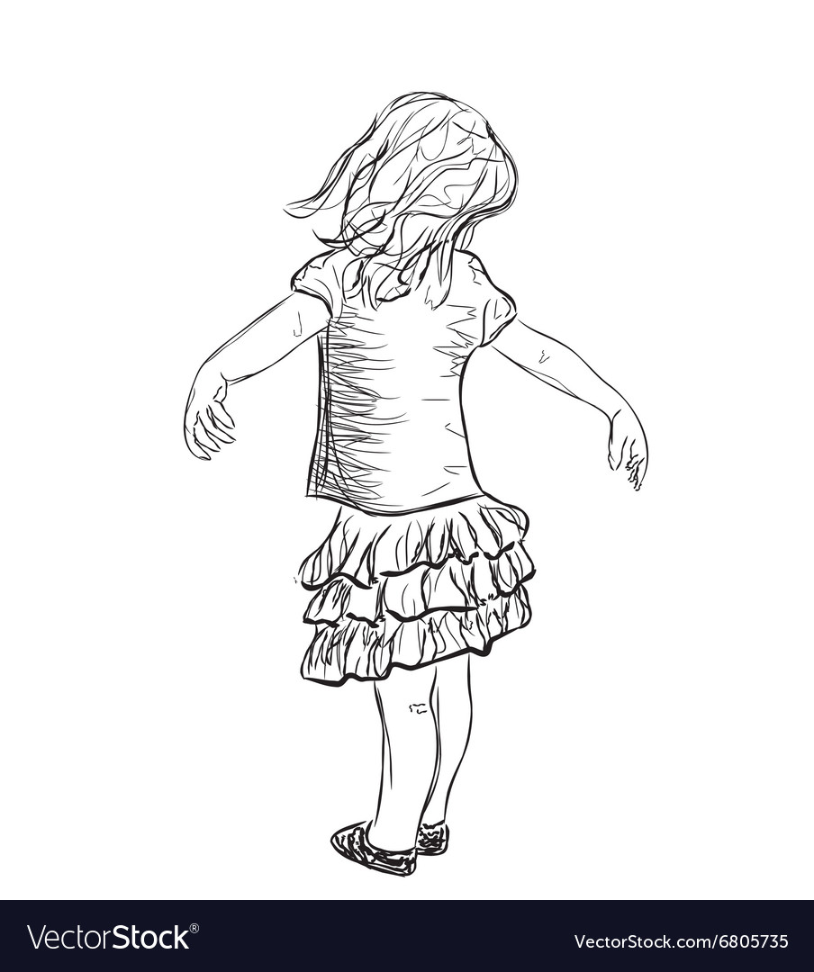 The small girl vector image