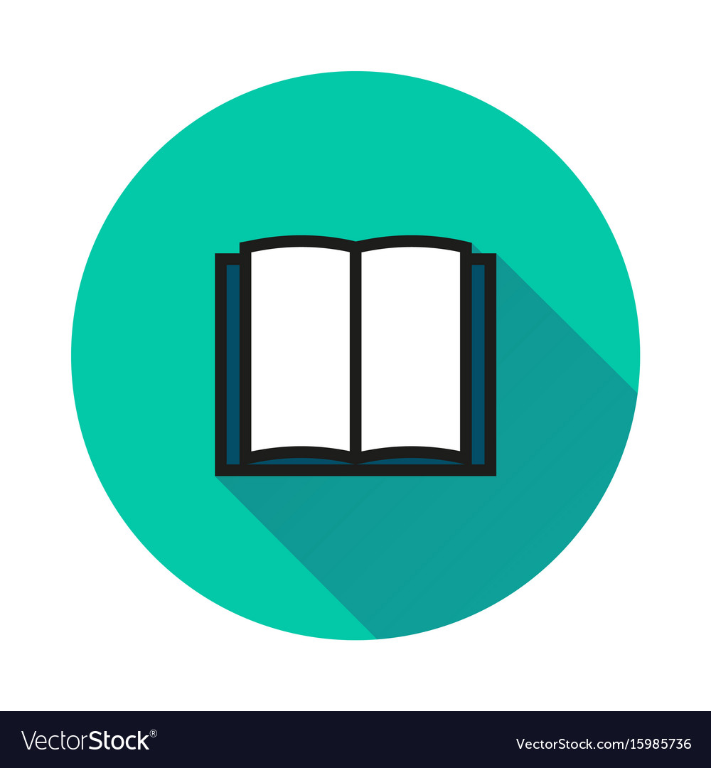 Book icon isolated on round background vector image