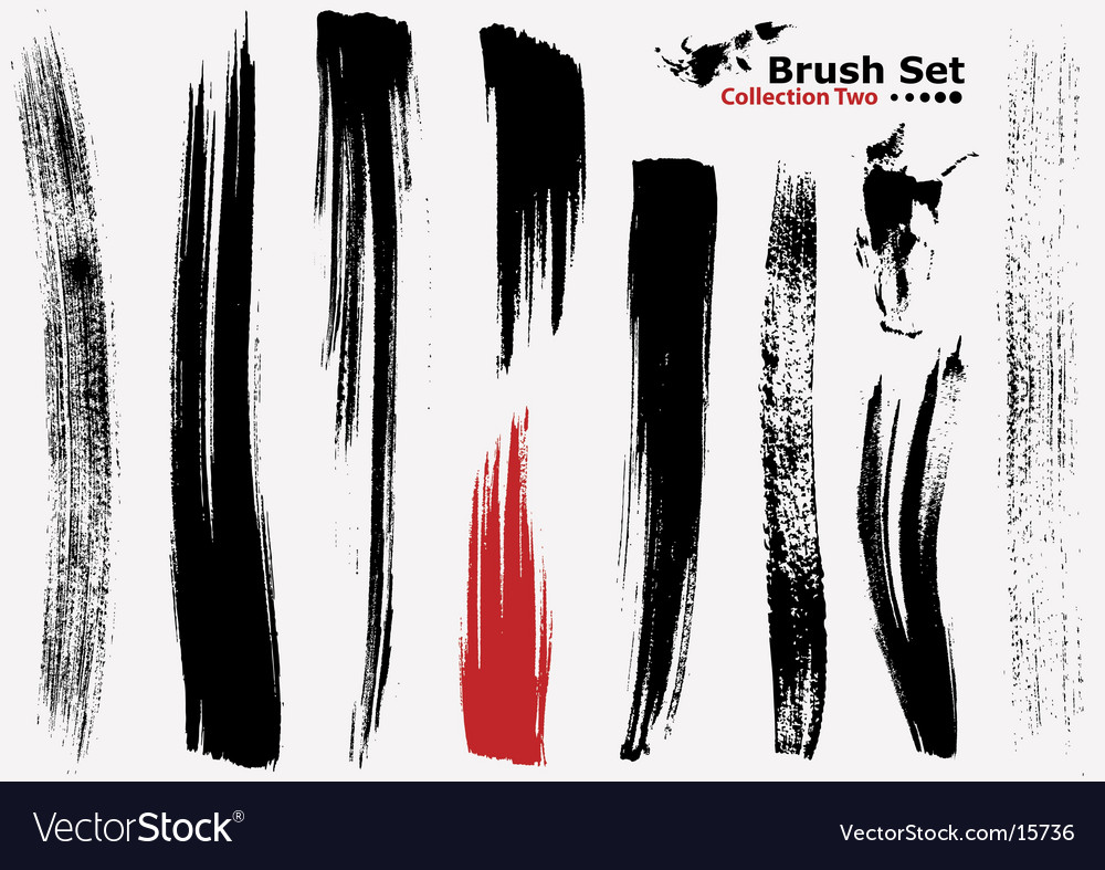 Highly detailed illustration brushes vector image