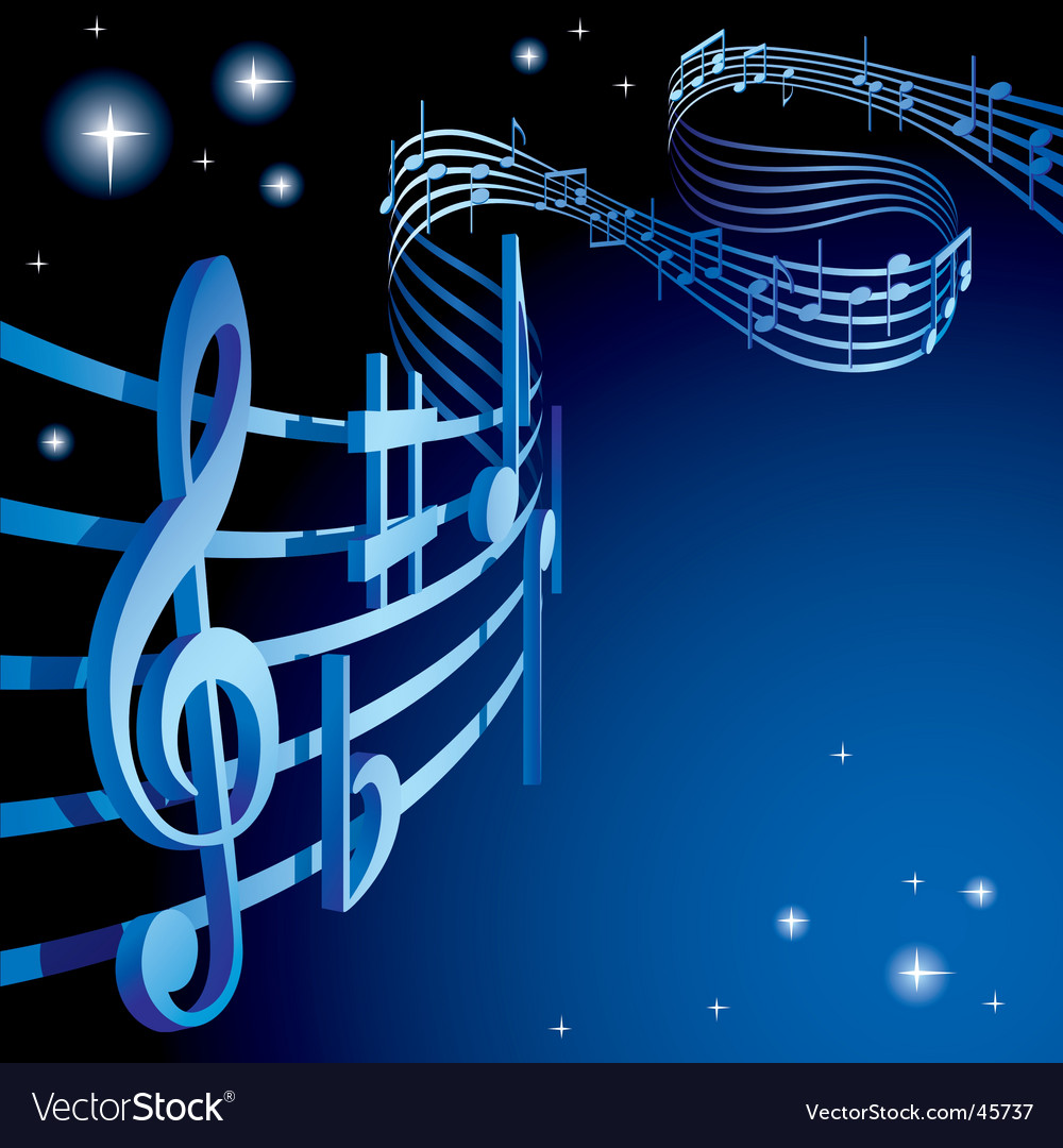 Background on a musical theme vector image