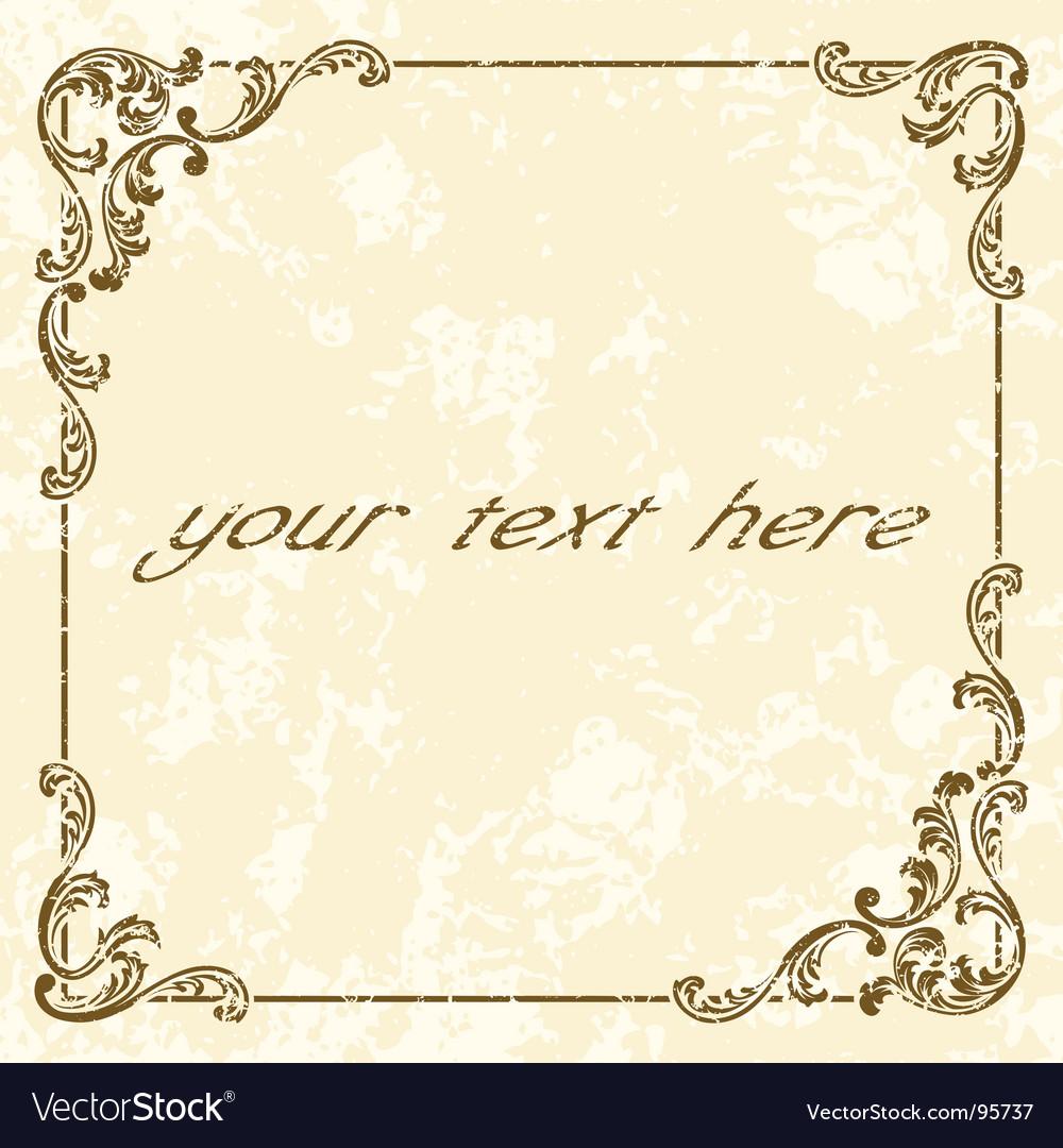 Grunge vintage frame vector image