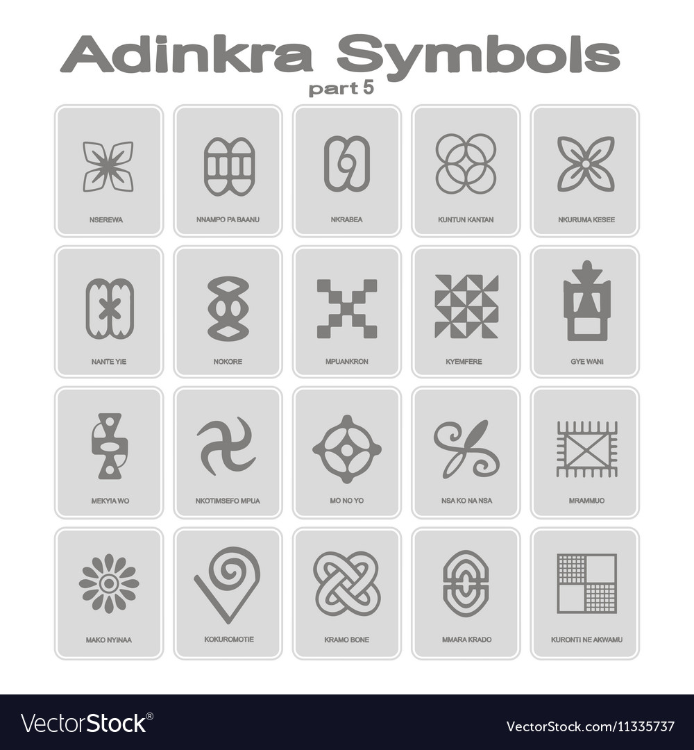 Set of monochrome icons with adinkra symbols vector image set of monochrome icons with adinkra symbols vector image buycottarizona