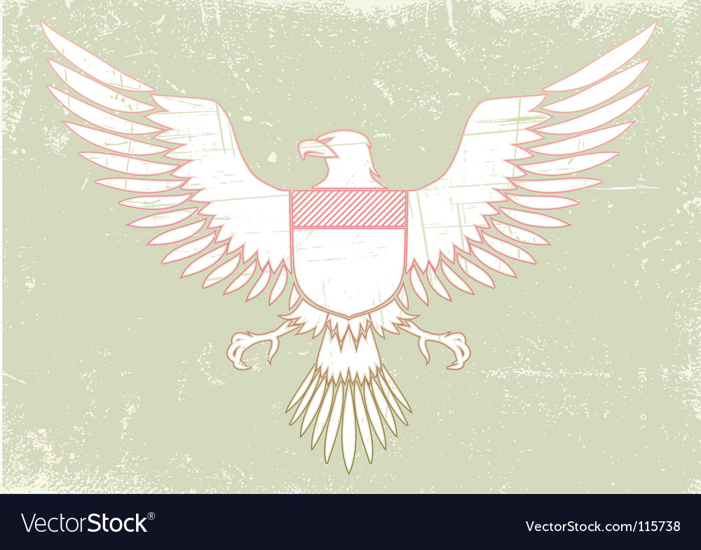 Medieval eagle vector image