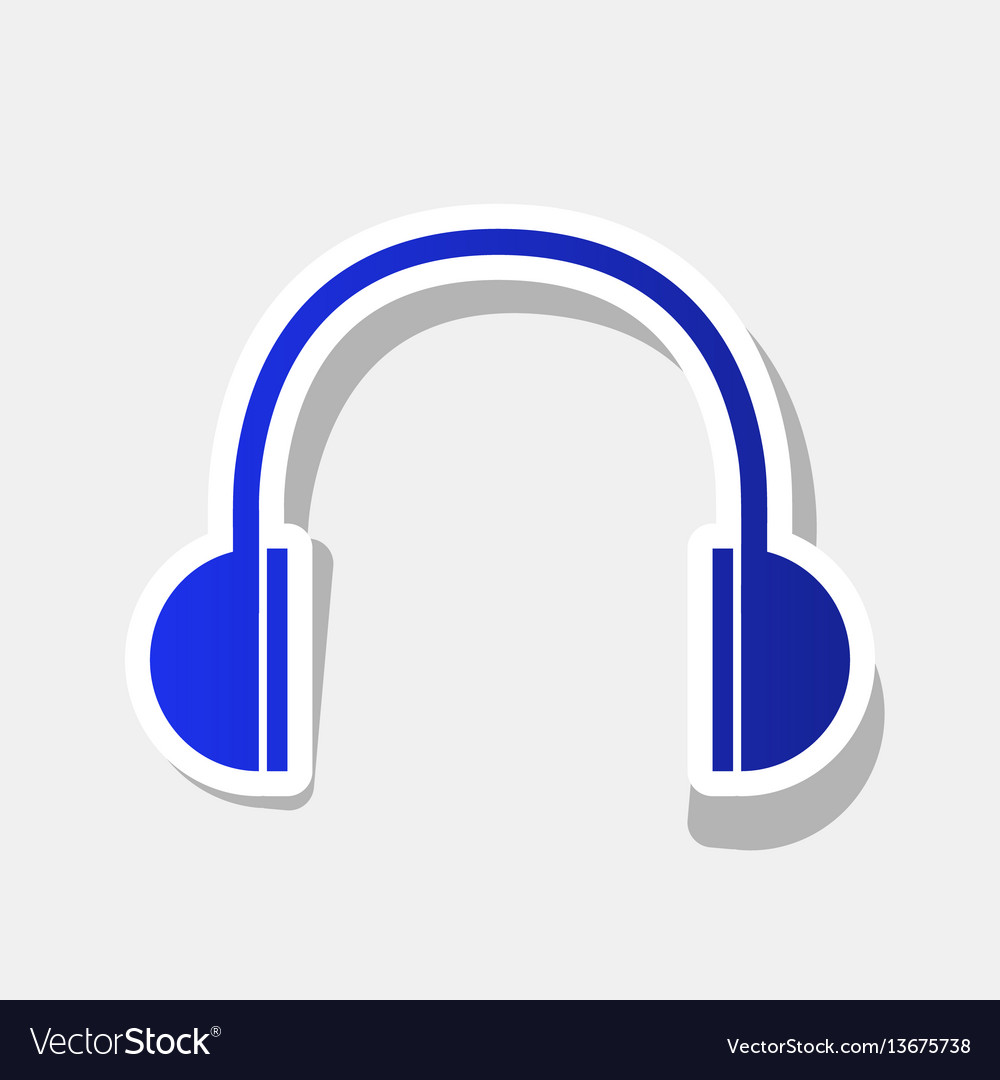 Headphones sign new year vector image
