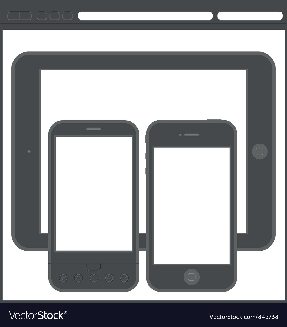Smartphone layout vector image