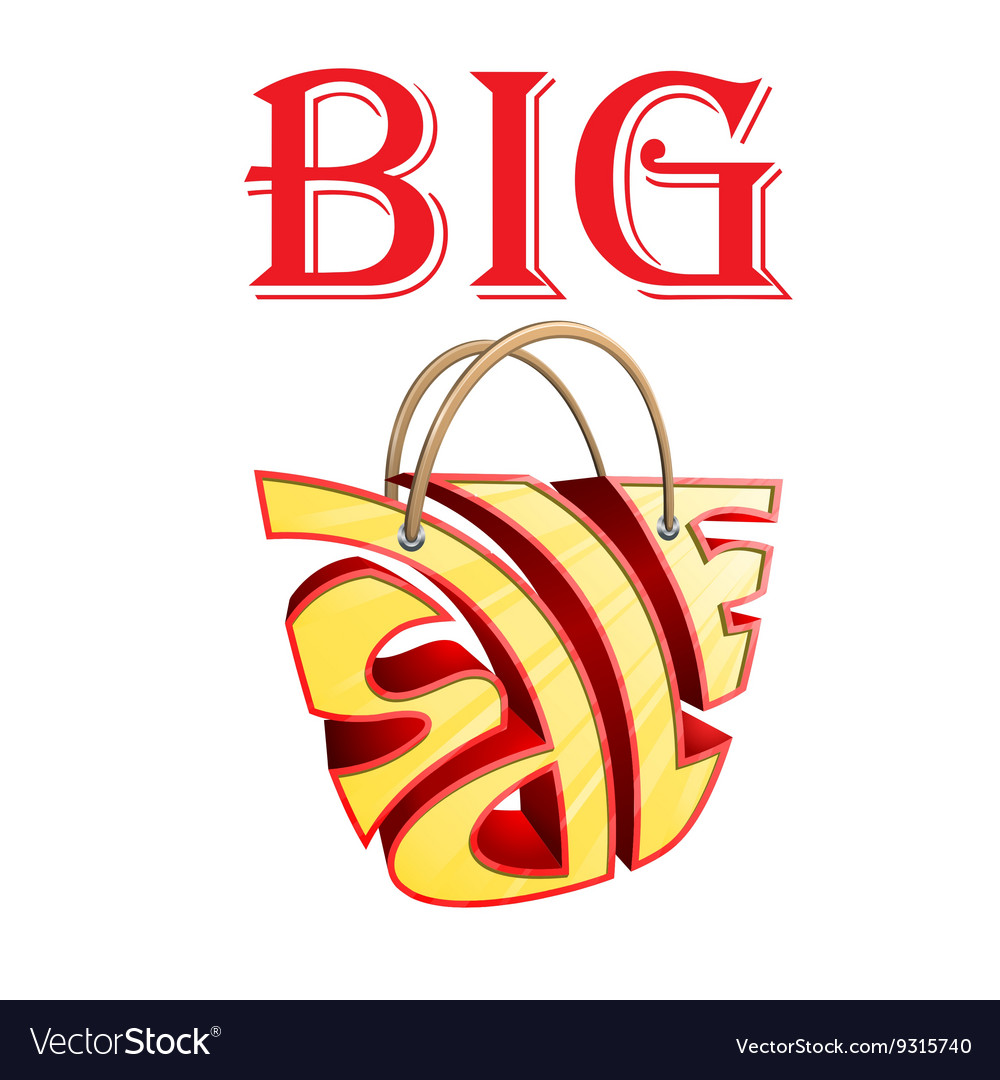 Big sale bag vector image