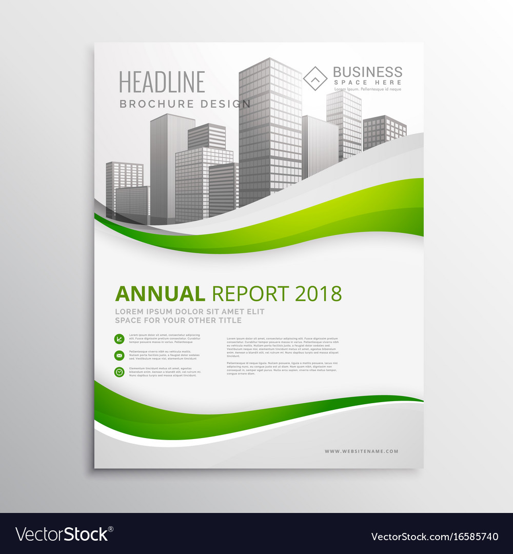 Green Real Estate Business Brochure Template Vector Image - Business brochure template