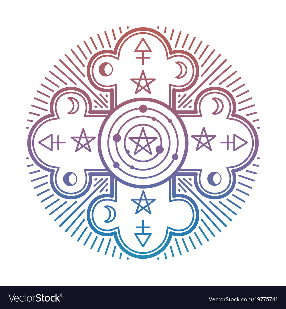 Bright mystery occult esoteric symbol isolated on vector image bright mystery occult esoteric symbol isolated on vector image biocorpaavc