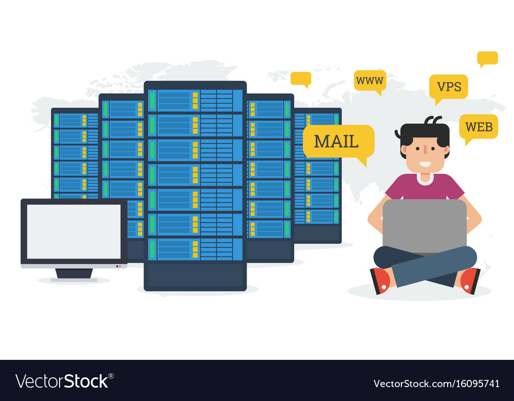 Long banner - web hosting administration vector image