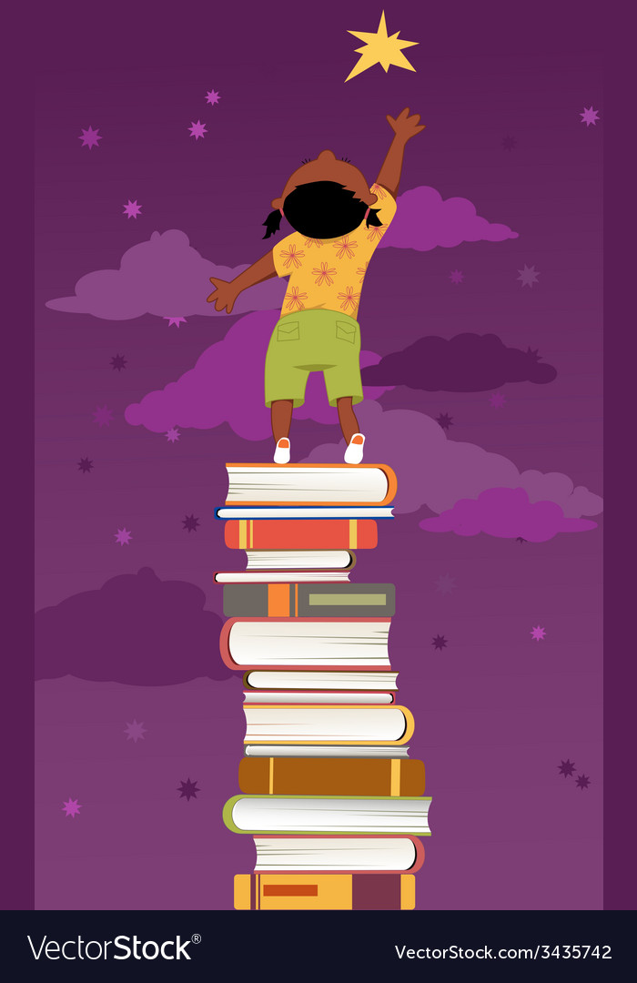 Importance of reading for children development vector image