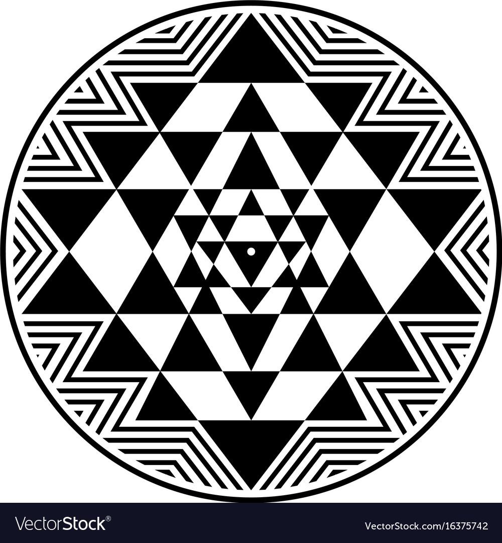 Sri yantra symbol vector image