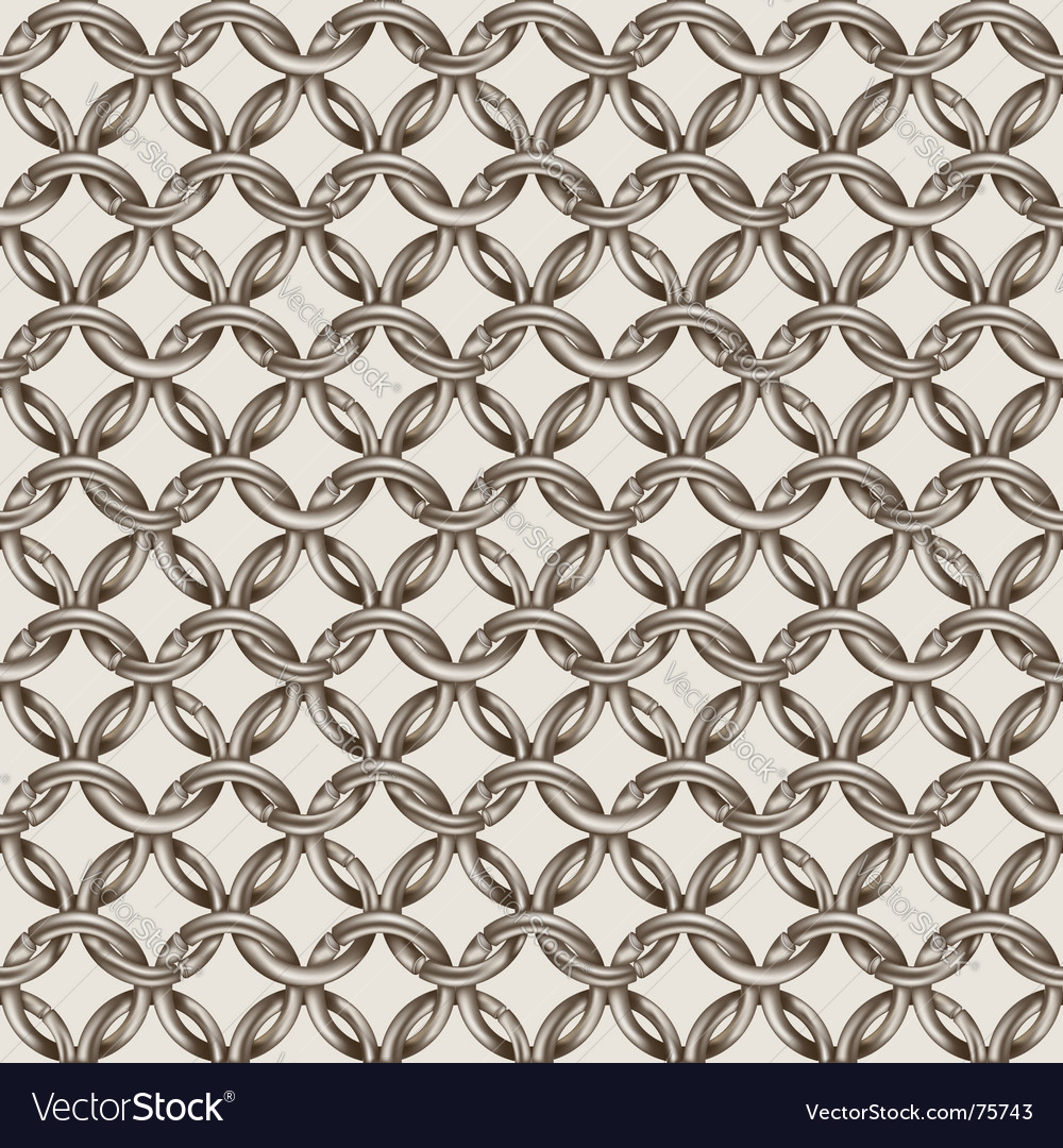 Chain mail vector image