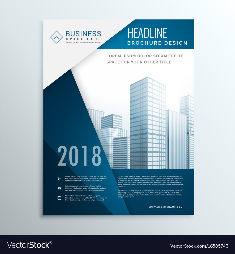 business brochure leaflet cover page design for vector image