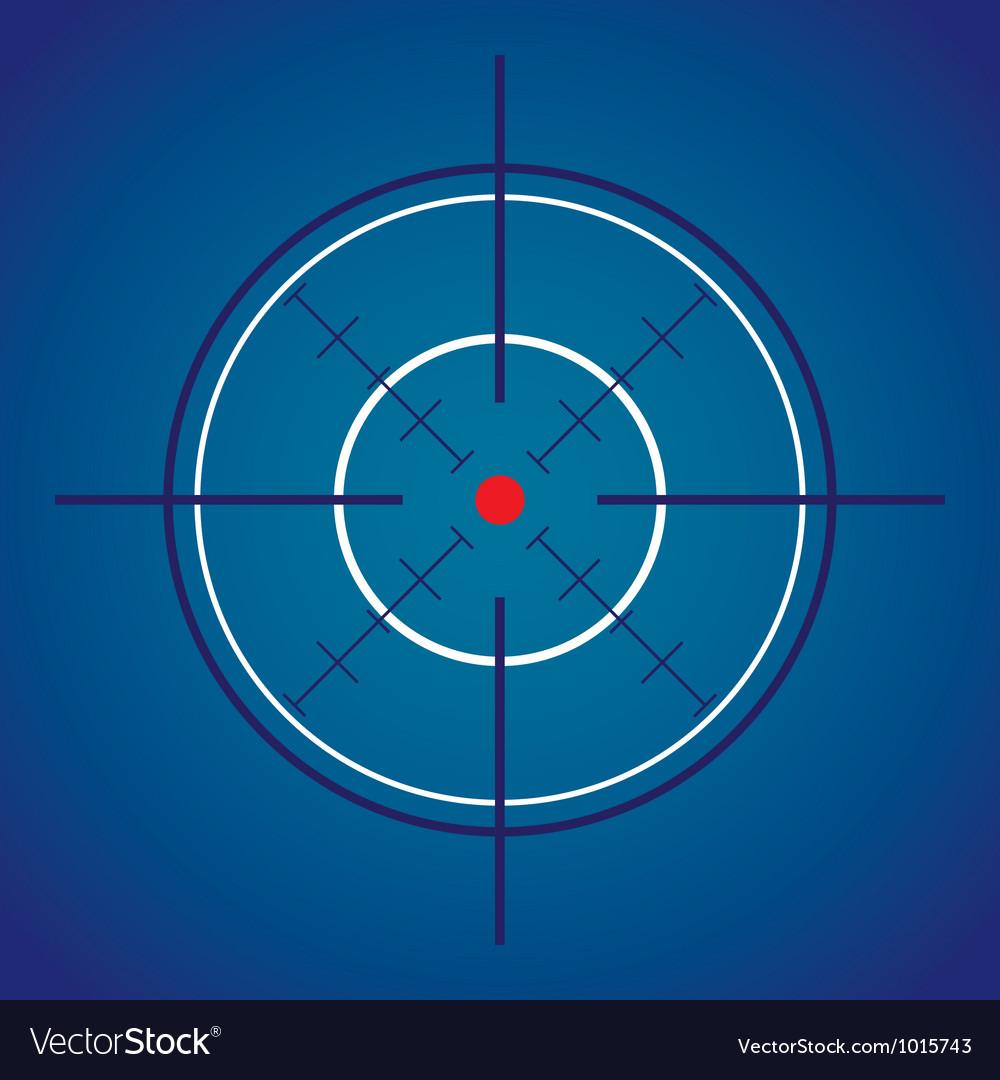 Crosshair Target vector image