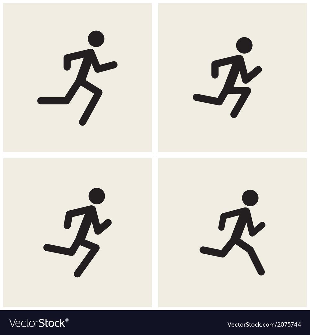 Running men vector image