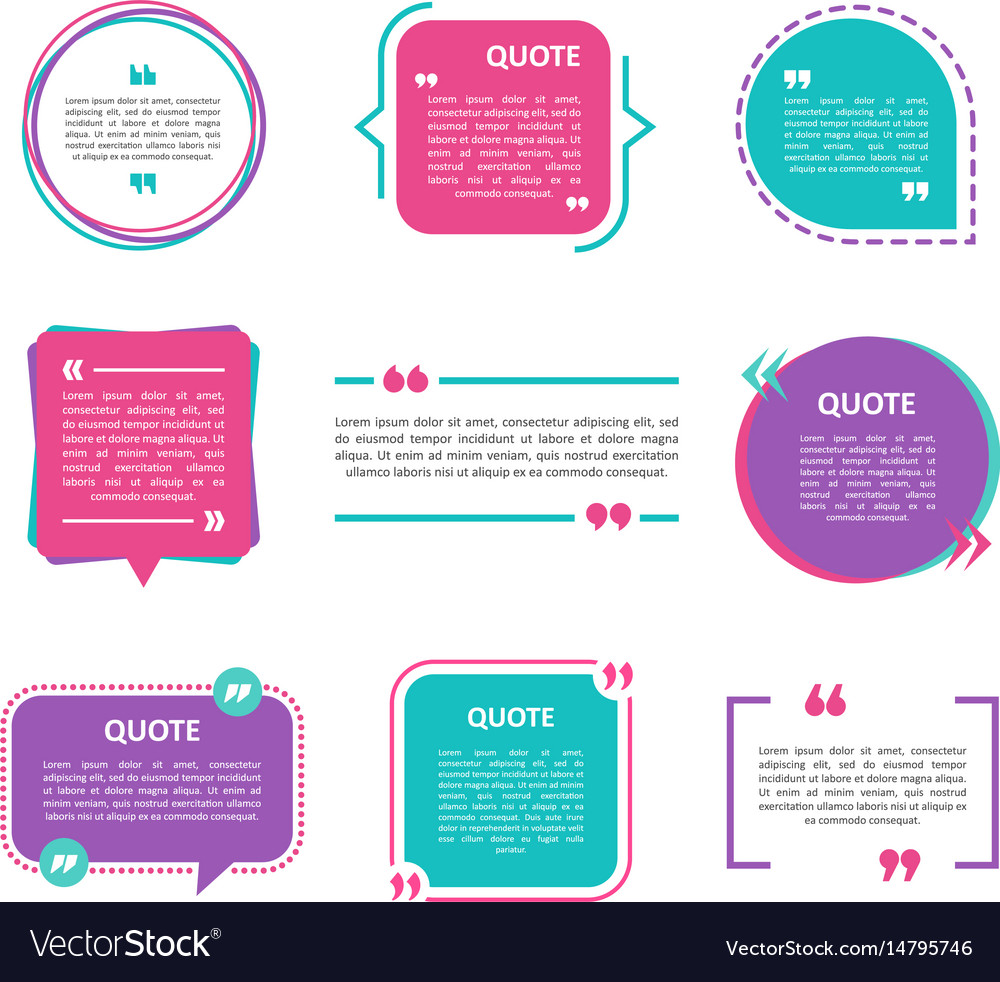 Quote box set on a white background vector image