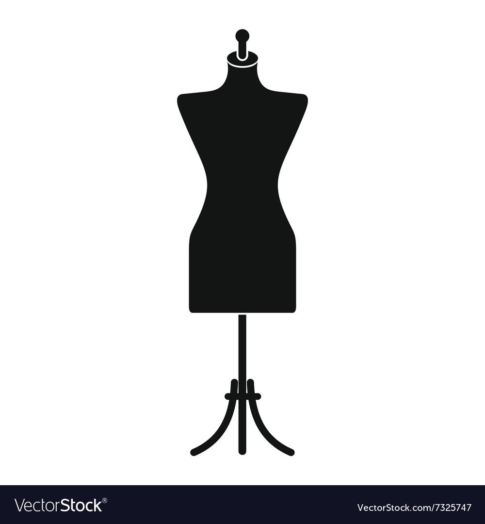 Dressmaker model icon vector image