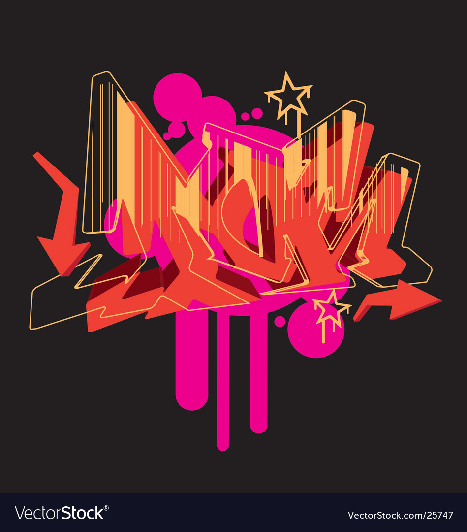 Graffiti graphic vector image