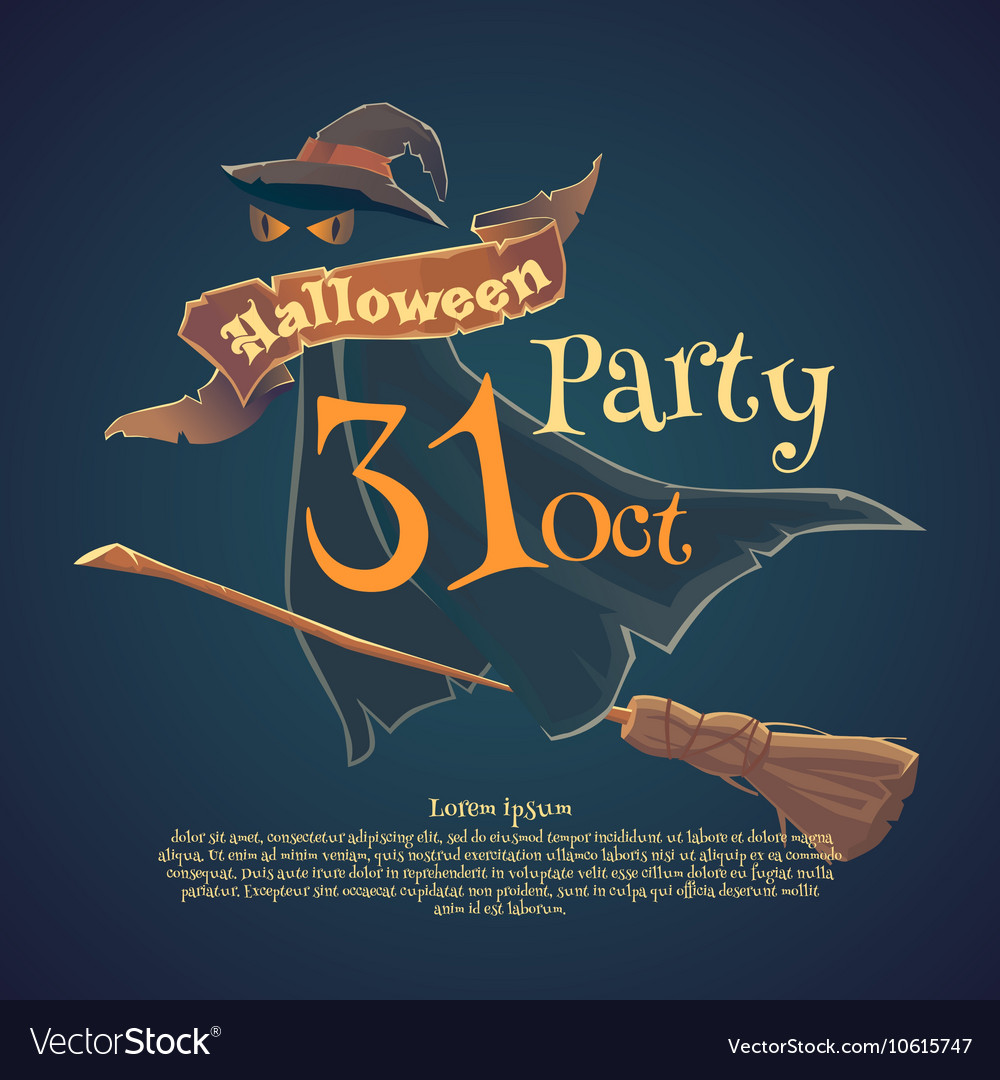 Charming Happy Halloween Night Party And Disco Vector Image