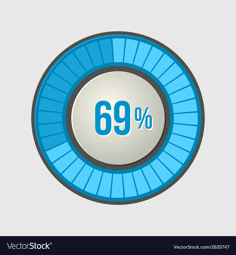 Ring Loading Progress Bar on Light Background vector image