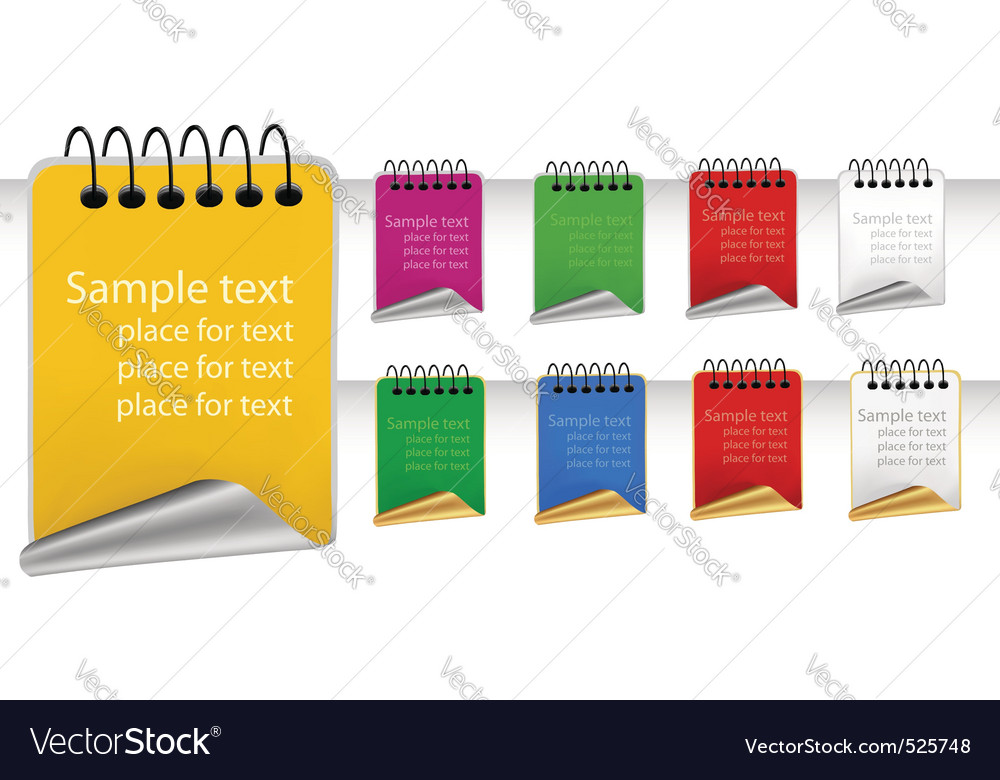 Set with color tags vector image