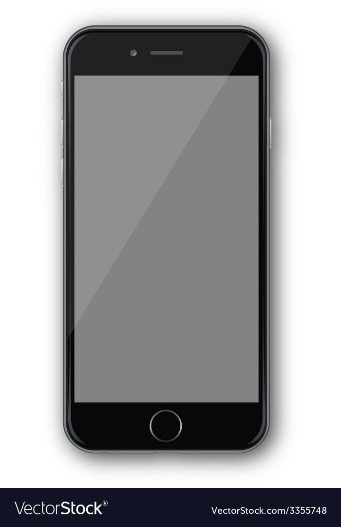 Iphone 4 black vector image