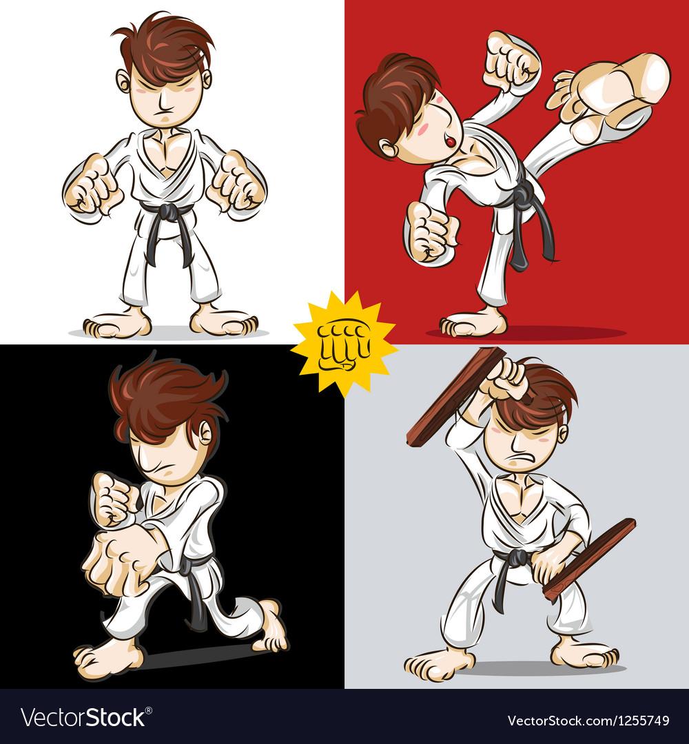 Martial Art Karate vector image