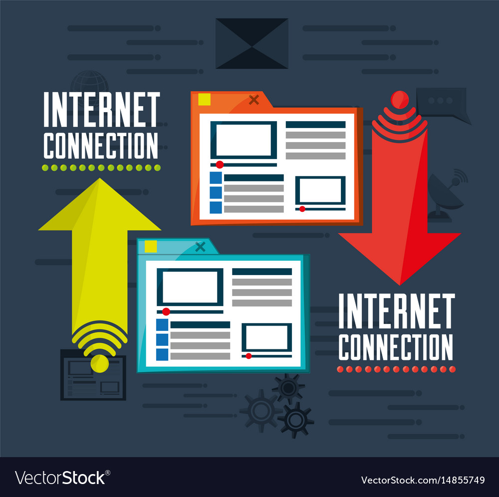 Website platform related with internet vector image
