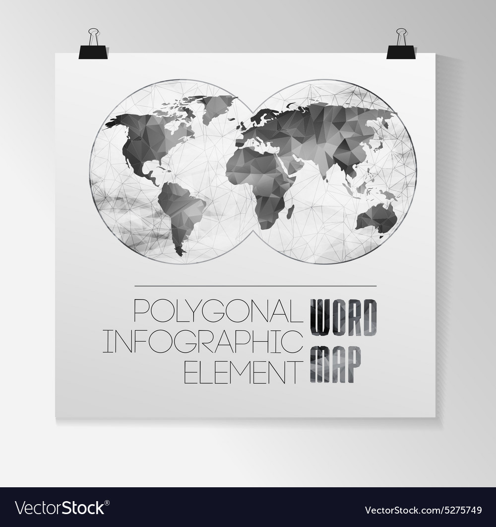 World map and typography royalty free vector image world map and typography vector image gumiabroncs Image collections